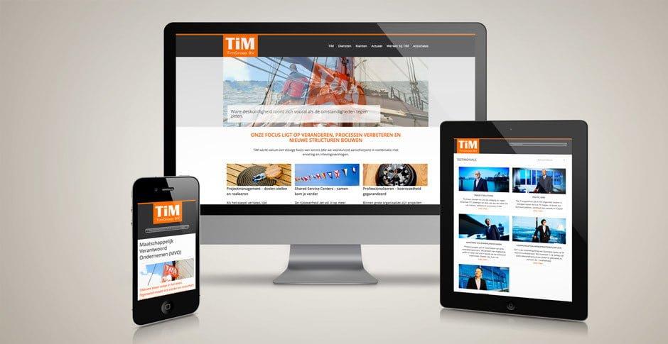 TiM Groep responsive webdesign