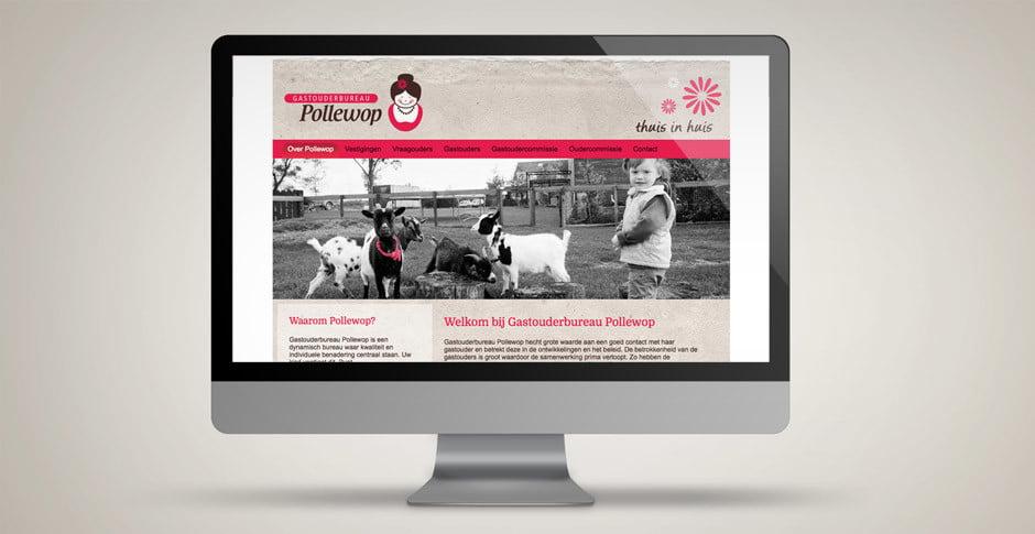 Gastouderbureau Pollewop website maken